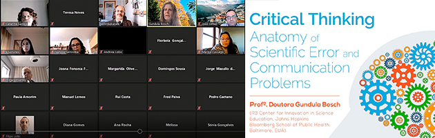 "Palestra ""Critical Thinking – Anatomy of Scientific Error and Communication Problems"""